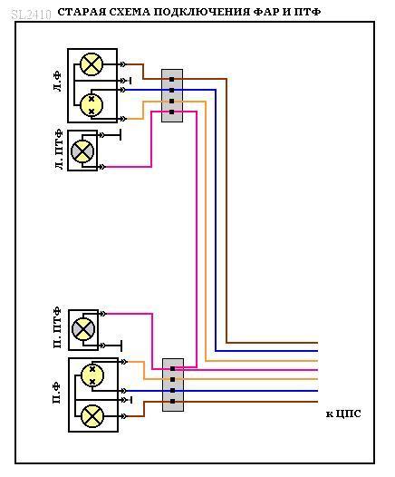 Для модернизации схемы подключения головного света нам потребуются: - реле 4х контактное (90.3747) - 5шт...